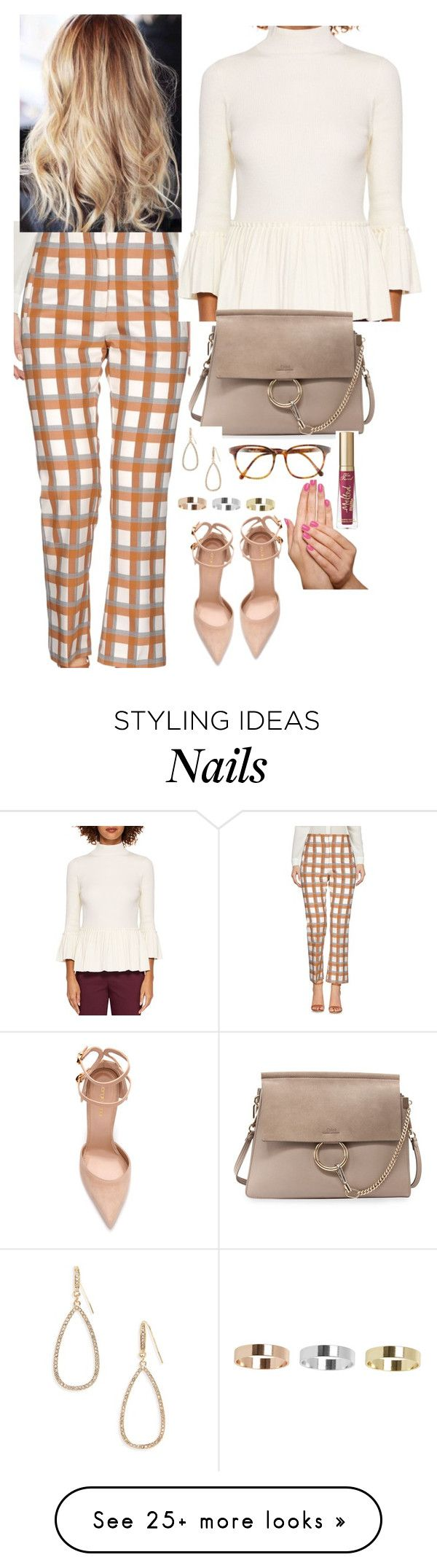 """""""Untitled #1750"""" by inthesun707 on Polyvore featuring jucca, Sergio Rossi, Ted Baker, Chloé, Topshop, Too Faced Cosmetics, Piggy Paint, Panacea and Steven Alan"""