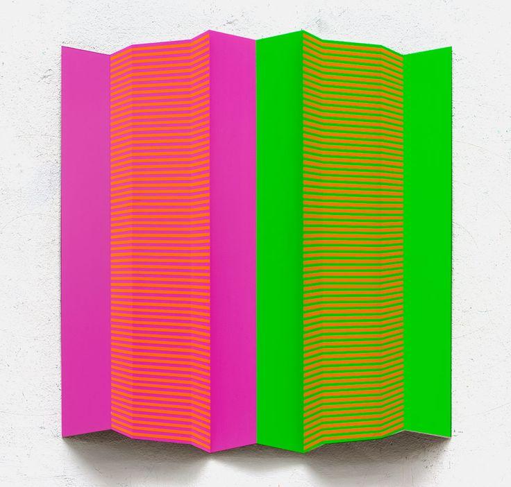 MSE3, 2011, 74x70x5cm, Acryl auf Alublech, Edgar Diehl