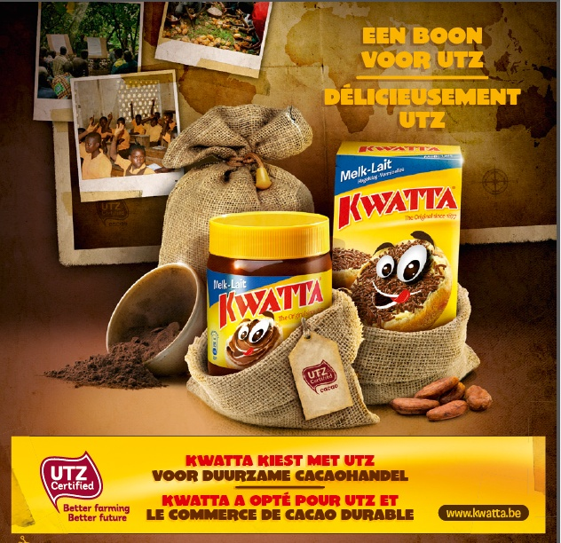 Kwatta works with UTZ Certified to produce cacao of better quality in a sustainable way and guarantee a better future for the cacao farmers and their family. Check out http://www.kwatta.be/nl/utz/ or http://www.kwatta.be/fr/utz/