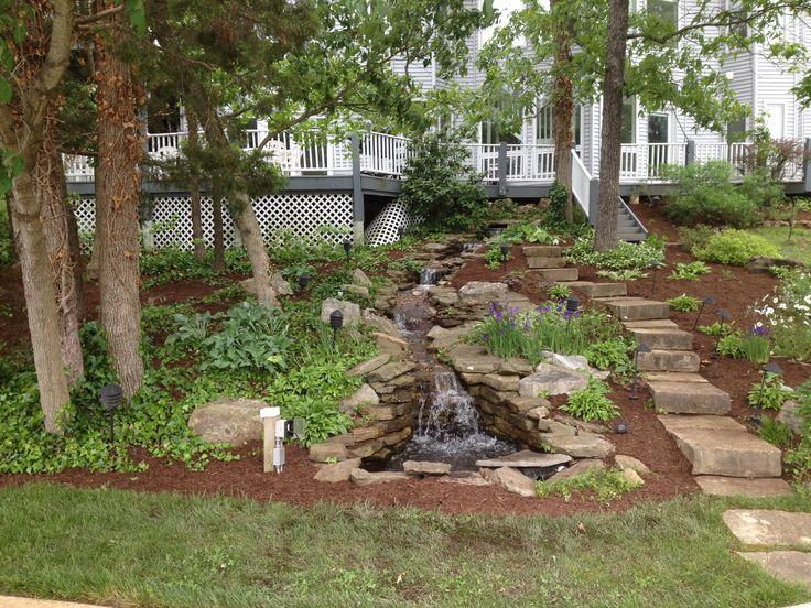 Saint Louis Landscape Design By Sundownlandscap See More Lake House Water Fall