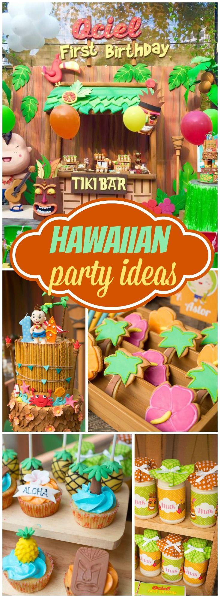 luau hawaiian birthday hula blessing hawa anniversaires et hawaienne. Black Bedroom Furniture Sets. Home Design Ideas