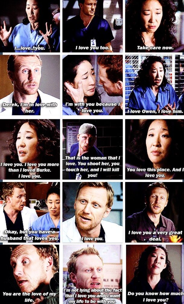 People try to say that Burke is the love of Cristina's life. No. Just no.