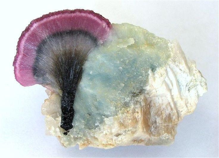 "Elbaite ""mushroom-tourmaline"" / Momeik Township, Kyaukme District, Shan State, Burma (Myanmar)"