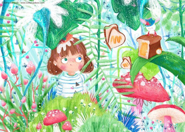 Bread and Butterfly - children's illustration by Sofia Cardoso #illustration #kidlitart
