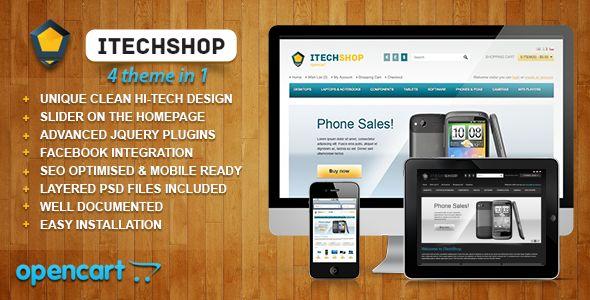 iTechShop OpenCart 1.5.4 Theme