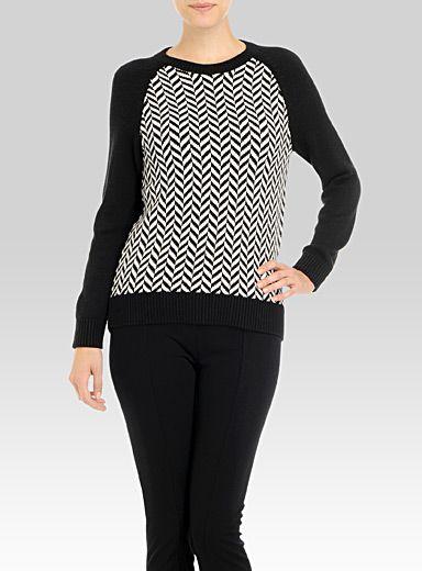 Michael Kors Graphic Herringbone Sweater