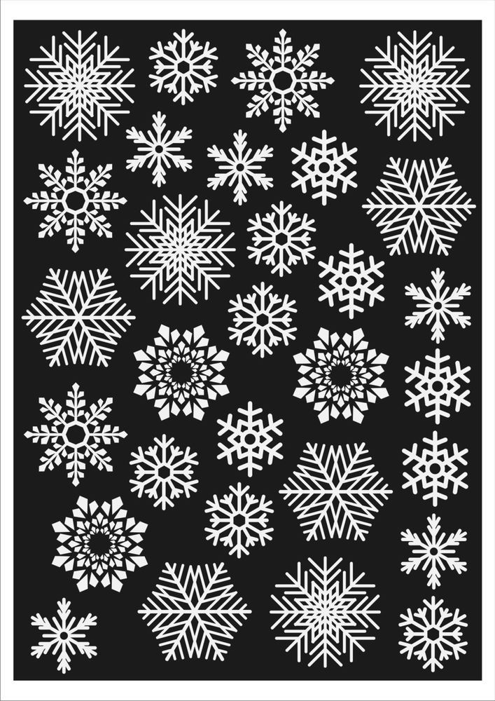 Christmas Window Decorations 60 Snowflakes. Static Cling Stickers. Fast Dispatch