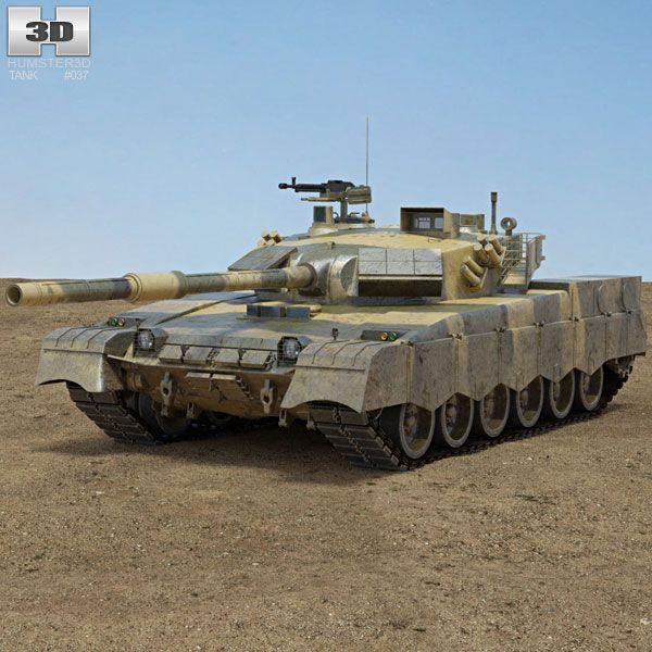 Al-Khalid MBT-2000 3d model from Humster3D.com