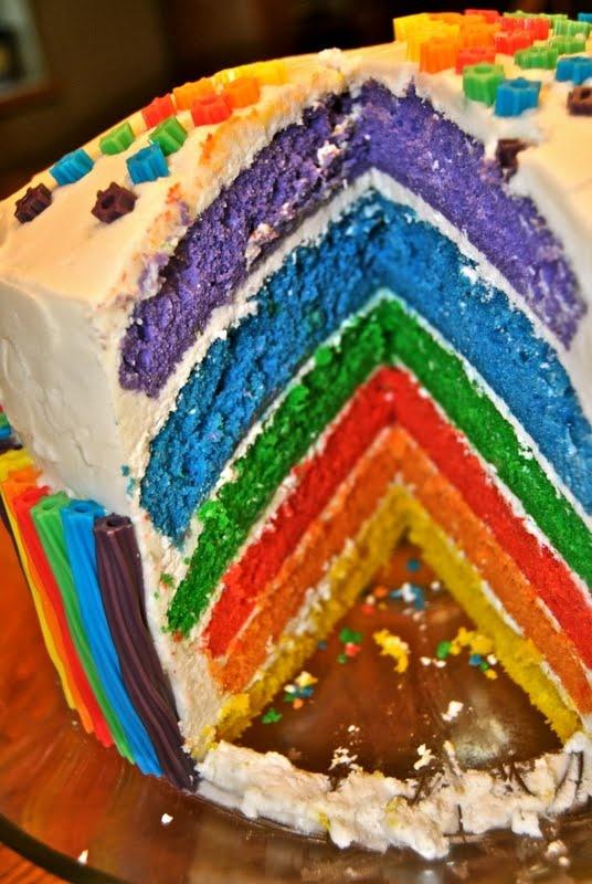 Simply Sadie Jane: MY HOW-TO RAINBOW CAKE!!