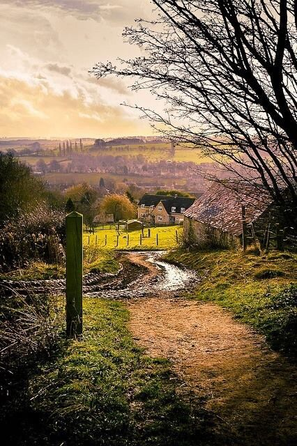 Hoo Lane in Chipping Campden - Gloucestershire, England