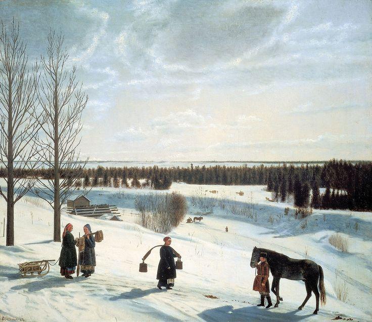 Н.С. Крылов (1802-1831). Зимний пейзаж (Русская зима), 1827. Русский музей