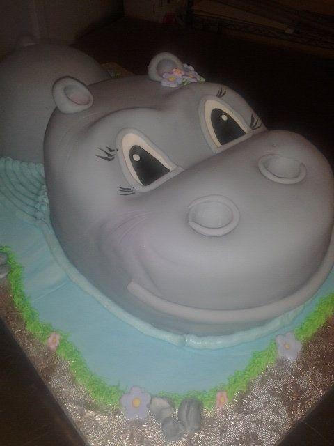 Hippo Cake - by Rosita @ CakesDecor.com - cake decorating website