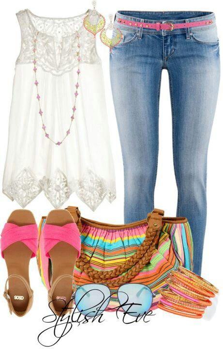 Jean y blusa blanca