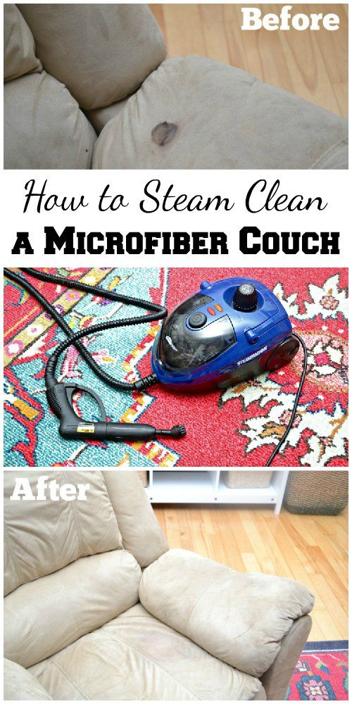 How To Clean A Microfiber Couch Around The House Steam