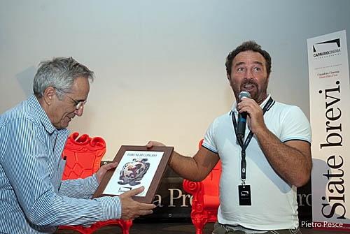 Il Sindaco Bellumori e Marco Bellocchio a #capalbiocinema #capalbio #piratiacapalbio