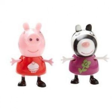 Peppa Pig Theme Park Figures Cupcake Peppa and Flower Zebra
