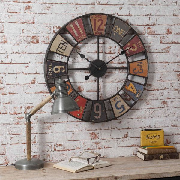 AMERICAN metal clock, multicoloured ...