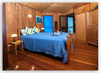 Polished timber floors feature in both bedrooms
