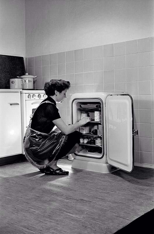 A fridge from 50's.