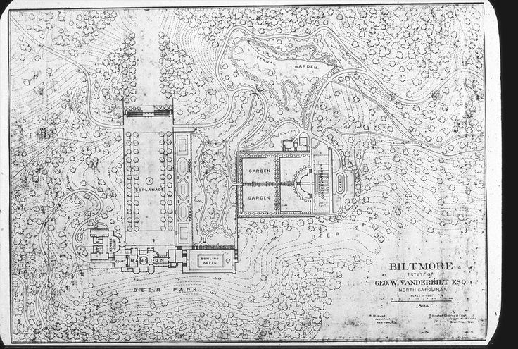 Layout For The Grounds Immediately Surrounding The Biltmore House Biltmore House History Biltmore House Biltmore Estate
