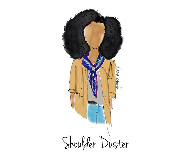 How to Style a Scarf - Shoulder Duster Style  Fashion Illustration