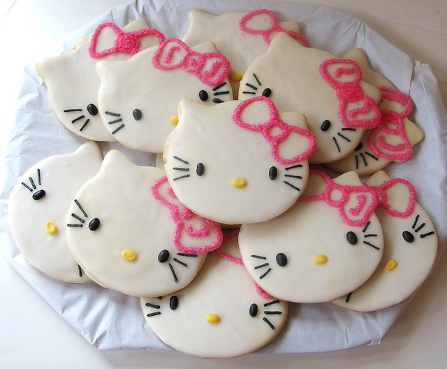 Hello kitty hallow bow, heart nose and eyelashes: Sugar Cookies, Hello Kitty Cookies, Birthday Parties, Food, Decor Cookies, Birthday Cookies, Yummy, Parties Ideas, Girls Birthday