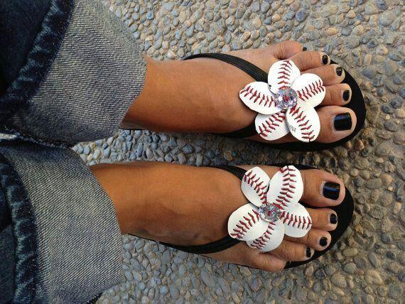 Baseball flip flops