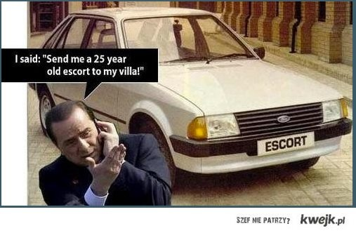 Berlusconi, escort