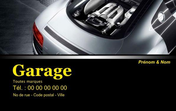Carte de visite garage auto, créez gratuitement à partir de modèle en ligne votre Carte de visite Garage, auto, mécanicien, carrosserie