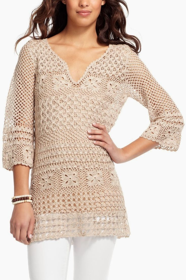 Crochet patterns: Crochet Charts for Calypso Tunic - Something to Me...