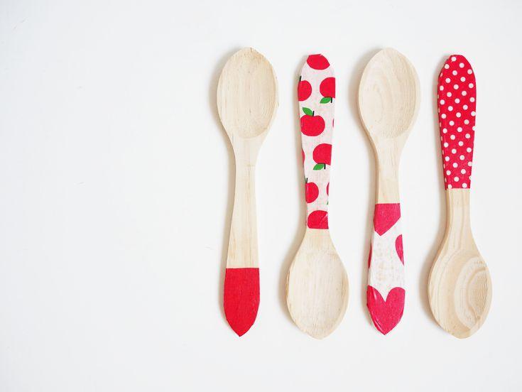 DIY cucharas de madera personalizadas