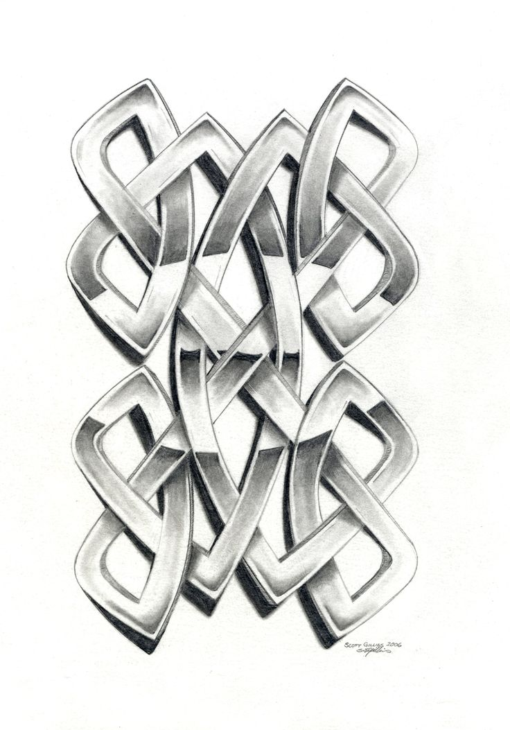 Celtic knot. Commission for the World of Highland Dancing Games.