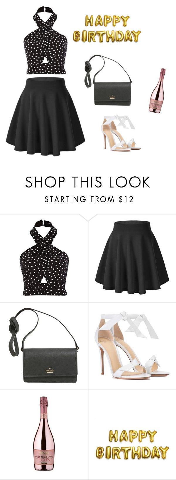 """Birthday outfit"" by monika1555 on Polyvore featuring Kate Spade, Alexandre Birman and SENSI"