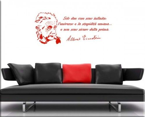 frase Albert Einstein wall sticker