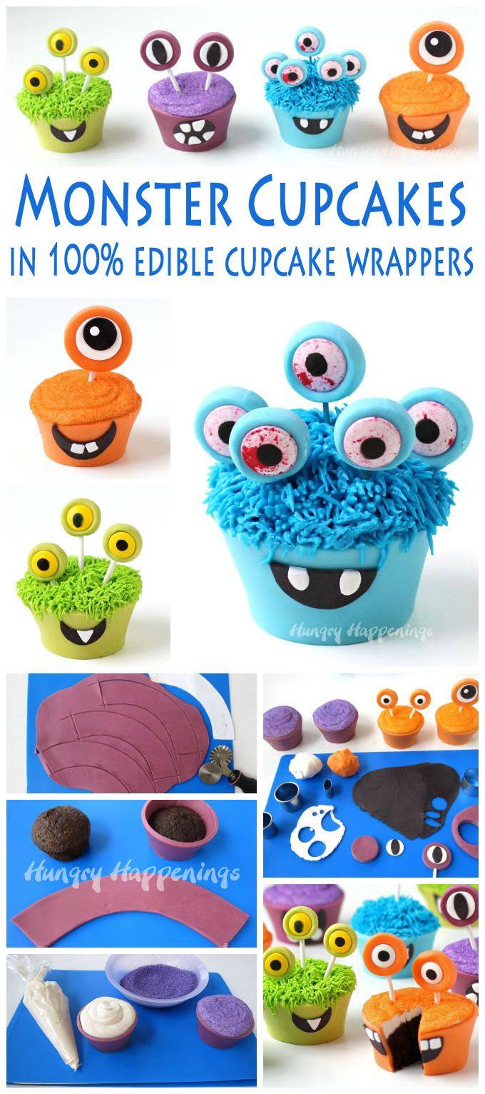 Bright Colored Baby Birthday Monster Cakes