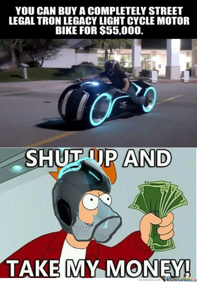 Tron Legacy Motor Bike. Take my monies too!