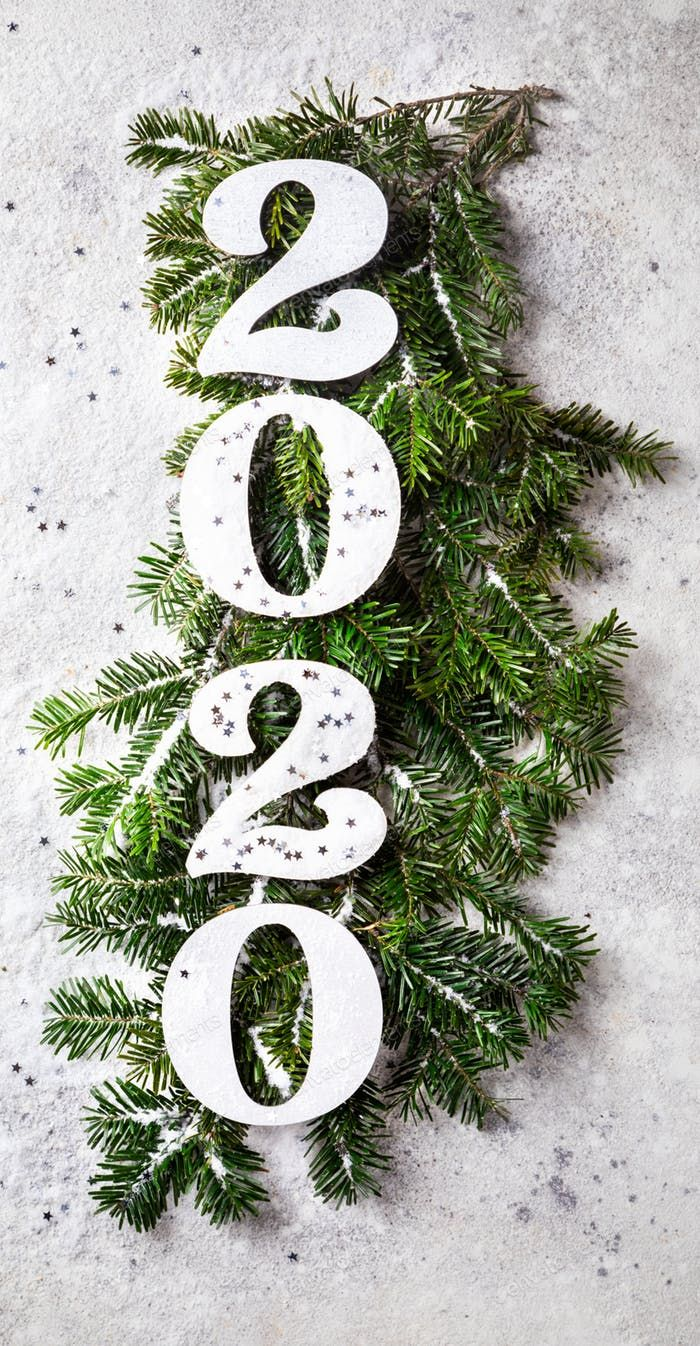 2020 Christmas Numbers Happy New Year 2020 photo by prosto_juli on | Christmas tree