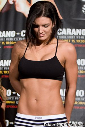 Gina Carano - MMA & now actress, it blows my mind how she's both fierce & hot at the same time.