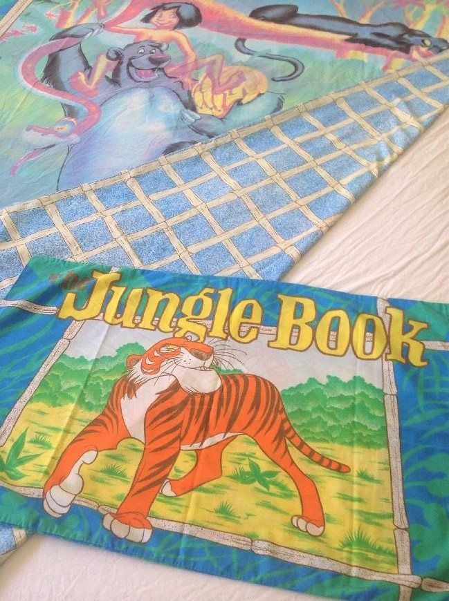 Disney's Jungle Book Double Sided Vintage Single Bed Duvet with Matching Pillowcase. c1980s by AtticBazaar on Etsy