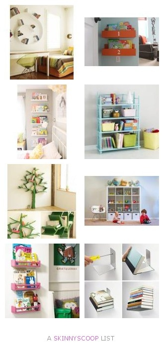 Kid Spaces: Sources and inspiration for book storage. by Jennifer Wright