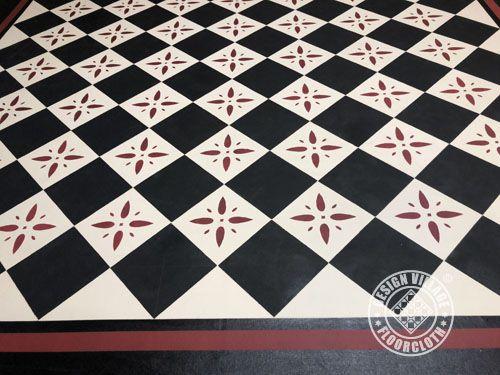 Diamonds Pattern Floorcloth Design Village Floorcloths Floor
