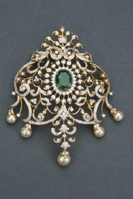 Tibarumals Classy Pendant   Jewellery Designs