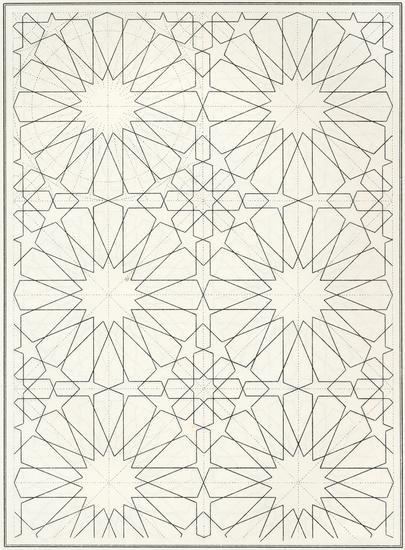 Pattern in Islamic Art - BOU 129 moorish arabesque moroccan muslim geometric tile design