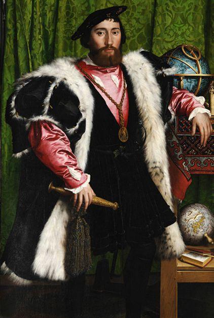 Jean de Detinville (détail), « Les Ambassadeurs », Hans Holbein Le Jeune, 1533, National Gallery ...