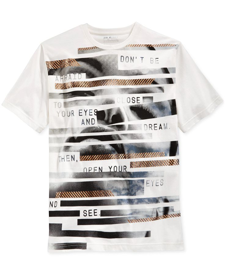 Show off your contemporary casual look with this Eyes T-shirt from Sean John, featuring comfortable cotton fabric finished with a stylish graphic print that's sure to turn heads. | Cotton | Machine wa