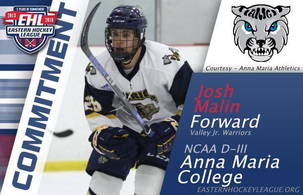 Malin Commits To Anna Maria College College Hockey College Maria