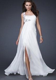 Vestido de la boda de madre embarazada muy sexy y muy moda, Gasa beige hombro delantero, HCW276