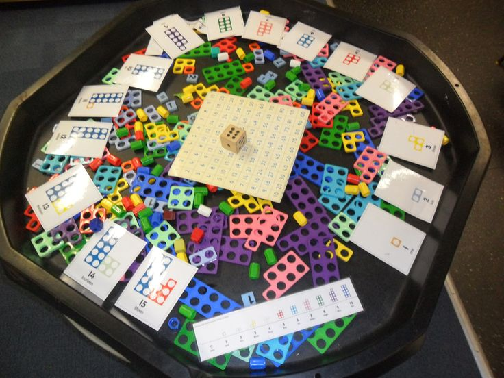 Making teen numbers with numicon in the tuffspot.