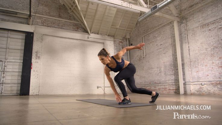 Fitness guru and mom of two Jillian Michaels walks us through a high intensity workout that's quick enough for any busy mom's schedule.