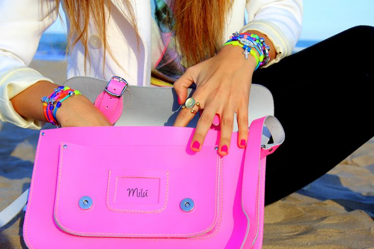 Fluorine Summer Collection    www.milubracelets.com    #bracelets #pink #fluorine #bags  #pulseras #rosa #fluor #fashion #milubracelets #handmade